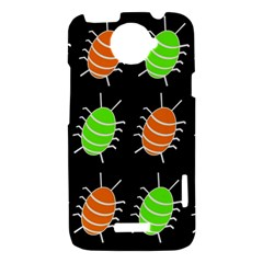 Green and orange bug pattern HTC One X Hardshell Case