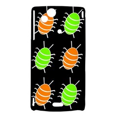 Green and orange bug pattern Sony Xperia Arc