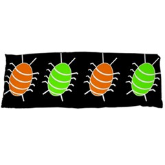 Green and orange bug pattern Body Pillow Case (Dakimakura)