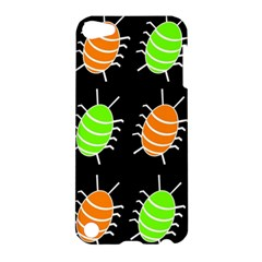 Green and orange bug pattern Apple iPod Touch 5 Hardshell Case