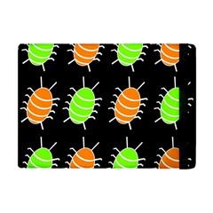 Green and orange bug pattern Apple iPad Mini Flip Case