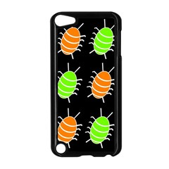 Green And Orange Bug Pattern Apple Ipod Touch 5 Case (black)