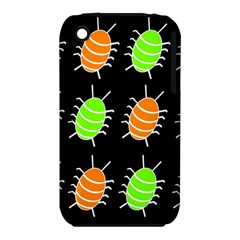 Green and orange bug pattern Apple iPhone 3G/3GS Hardshell Case (PC+Silicone)