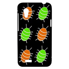 Green and orange bug pattern HTC Desire VT (T328T) Hardshell Case