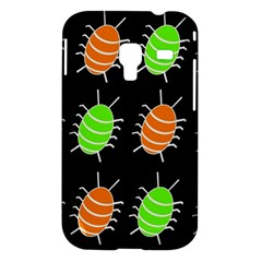 Green and orange bug pattern Samsung Galaxy Ace Plus S7500 Hardshell Case