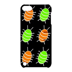 Green and orange bug pattern Apple iPod Touch 5 Hardshell Case with Stand