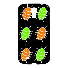 Green and orange bug pattern Samsung Galaxy S4 I9500/I9505 Hardshell Case