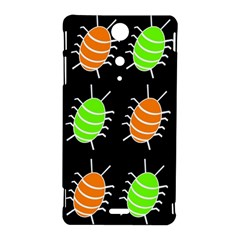 Green and orange bug pattern Sony Xperia TX