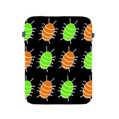 Green and orange bug pattern Apple iPad 2/3/4 Protective Soft Cases