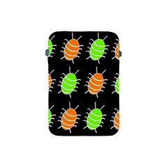 Green and orange bug pattern Apple iPad Mini Protective Soft Cases