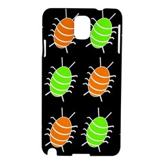 Green and orange bug pattern Samsung Galaxy Note 3 N9005 Hardshell Case