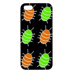 Green and orange bug pattern iPhone 5S/ SE Premium Hardshell Case