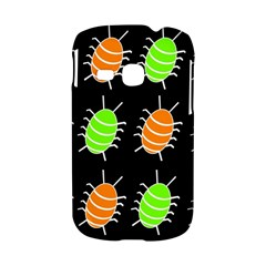Green and orange bug pattern Samsung Galaxy S6310 Hardshell Case