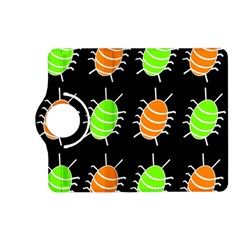 Green and orange bug pattern Kindle Fire HD (2013) Flip 360 Case