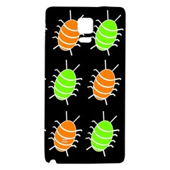 Green and orange bug pattern Galaxy Note 4 Back Case