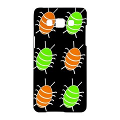 Green and orange bug pattern Samsung Galaxy A5 Hardshell Case