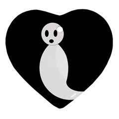 Ghost Ornament (Heart)