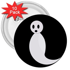Ghost 3  Buttons (10 pack)
