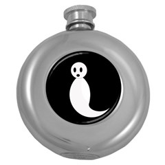 Ghost Round Hip Flask (5 oz)