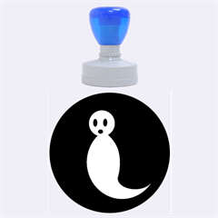 Ghost Rubber Round Stamps (large)