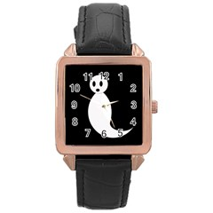 Ghost Rose Gold Leather Watch