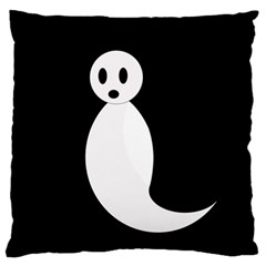 Ghost Large Flano Cushion Case (Two Sides)
