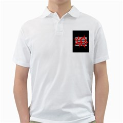 Red, black and white abstract design Golf Shirts