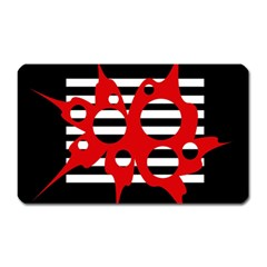 Red, black and white abstract design Magnet (Rectangular)