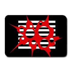 Red, black and white abstract design Plate Mats