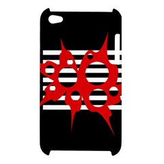 Red, black and white abstract design Apple iPod Touch 4