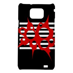 Red, black and white abstract design Samsung Galaxy S2 i9100 Hardshell Case