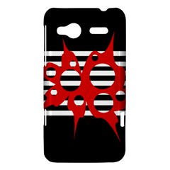 Red, black and white abstract design HTC Radar Hardshell Case