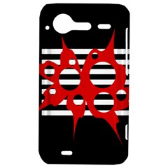 Red, black and white abstract design HTC Incredible S Hardshell Case