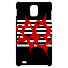 Red, black and white abstract design Samsung Infuse 4G Hardshell Case