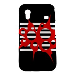 Red, black and white abstract design Samsung Galaxy Ace S5830 Hardshell Case