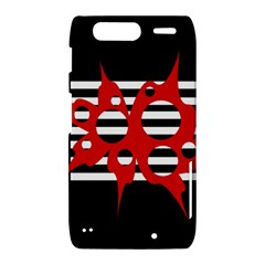 Red, black and white abstract design Motorola Droid Razr XT912