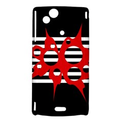 Red, black and white abstract design Sony Xperia Arc