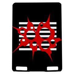 Red, black and white abstract design Kindle Touch 3G