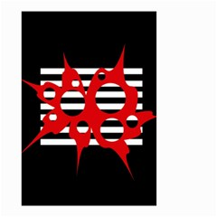 Red, black and white abstract design Small Garden Flag (Two Sides)