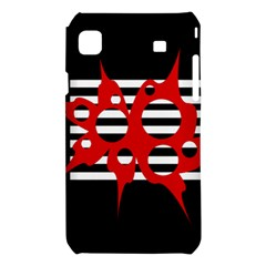 Red, black and white abstract design Samsung Galaxy S i9008 Hardshell Case