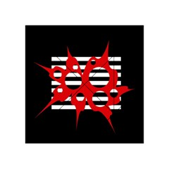 Red, black and white abstract design Acrylic Tangram Puzzle (4  x 4 )