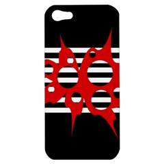 Red, black and white abstract design Apple iPhone 5 Hardshell Case