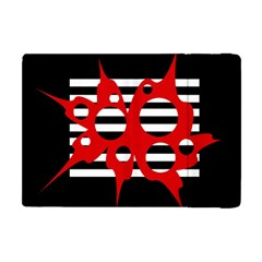Red, Black And White Abstract Design Apple Ipad Mini Flip Case