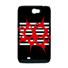 Red, black and white abstract design Samsung Galaxy Note 2 Hardshell Case (PC+Silicone)