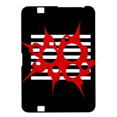 Red, black and white abstract design Kindle Fire HD 8.9