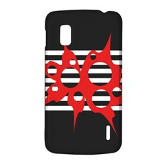 Red, black and white abstract design LG Nexus 4