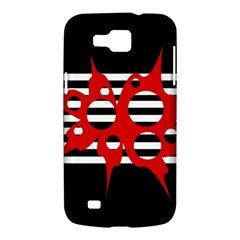 Red, black and white abstract design Samsung Galaxy Premier I9260 Hardshell Case