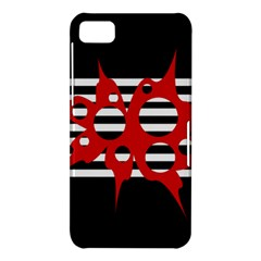 Red, black and white abstract design BlackBerry Z10