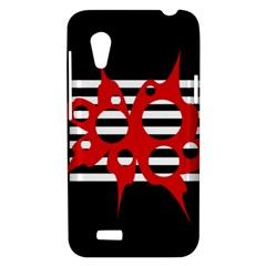 Red, black and white abstract design HTC Desire VT (T328T) Hardshell Case
