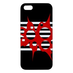 Red, black and white abstract design Apple iPhone 5 Premium Hardshell Case